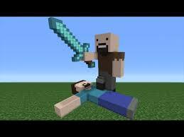 Minecraft Herobrine Memes - minecraft tutorial how to make a notch vs herobrine statue youtube