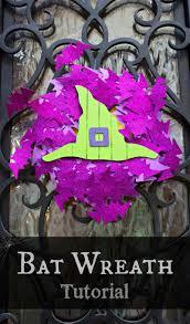 halloween door wreaths halloween front door bat wreath