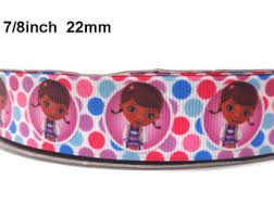 doc mcstuffins ribbon 3 inch elastic lace trim hair accessories lace ribbon by the yard
