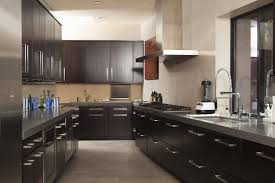 Black Kitchens Designs by Picture Of Kitchen Design Dark Cabinets And Grey Wall Awesome