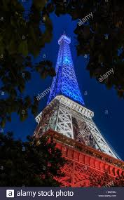 French Flag Eiffel Tower Eiffel Tower Lit With The Colors Of The French Flag Paris France