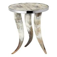 z gallerie side table cheyenne horn table accent tables stool accessories z