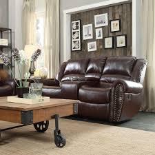 Bonded Leather Loveseat Homesullivan Merida Chocolate Bonded Leather Loveseat 409668brw 2