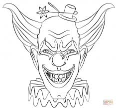 Scary Clown Coloring Pages Funycoloring Scary Coloring Paes