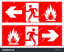 Fire Evacuation Route Plan by Emergency Fire Exit Left Emergency Fire Stock Vector 467011010