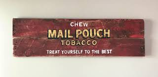 mail pouch tobacco sign vintage sign vintage advertising