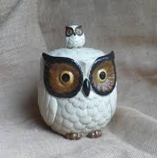 vintage kitchen canister vintage owl cookie jar omc japan kitchen canister by
