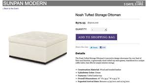 Noah Tufted Storage Ottoman Living Room Cha Cha Cha Changes Young House Love