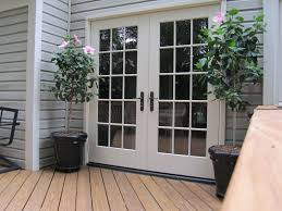 Patio French Doors With Built In Blinds by French Doors Outswing Lowes Outswing French Door On Brick House