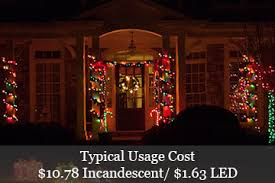outdoor christmas lights led vs incandescent christmas lights power consumption