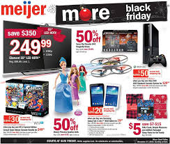 best black friday deals on tv meijer u0027s full black friday ad leaks killer tv deals 299 ps4