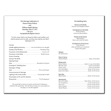 printing wedding programs wedding program 6236 with printing pack of 200 wedding
