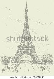 vector drawing series sketches landmarks cities stock vector