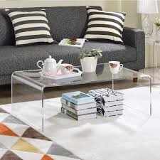 Illuminating Coffee Table Clear Acrylic Coffee Table Free Shipping Today Overstock Com