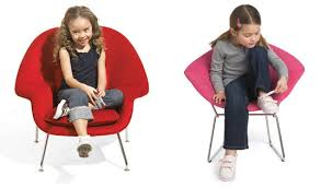 Kid Lounge Chairs Knoll Kids Barcelona Chair And Stool Inhabitots