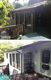 white painted brick exterior before and after bella tucker