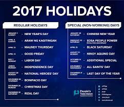 list of philippine holidays in 2017 philippine primer
