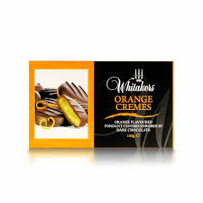 dark chocolate orange creams 150g 15 pieces whitakers chocolates