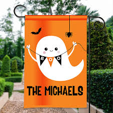 happy halloween garden flag boo friendly ghost personalized house