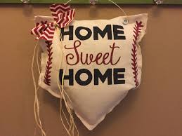 baseball door hanger baseball wreath baseball decor home sweet