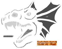free halloween pumpkin pattern dragon head pattern