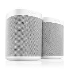 smart l with speaker amazon com all new sonos one 2 room smart speaker with alexa