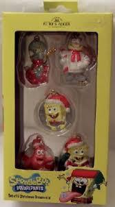 spongebob squarepants 5 mini ornament set new in box