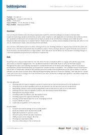 Standard Job Resume by Best Photos Of Standard Job Description Template Sample Job