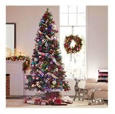 9 ft virginia pine artificial tree w color