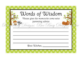 words of wisdom cards baby shower baby shower words baby shower words of wisdom baby