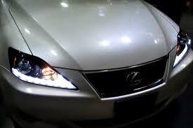 lexus is 250 headlight bulb spec d 2lhp is25006 tm chrome projector led headlights with