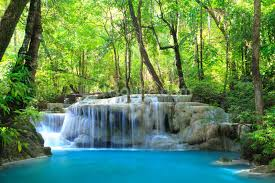 landscape wallpaper wall murals wallsauce usa erawan waterfall thailand wallpaper mural