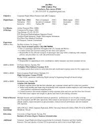 professional pilot resume resume for your job application