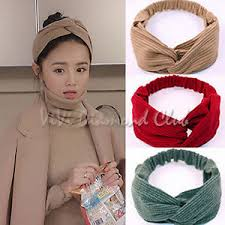 korean headband fashion korean style twisted bow knot hoop ribbon satin scarf hair