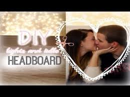 Room Decor Lights Diy Room Decor Lights And Tulle Headboard With Jerry Youtube