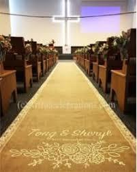 Burlap Wedding Aisle Runner Burlap And Lace Wedding Aisle Runner Hand Painted And