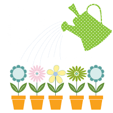 flowers u0026 watering can clipart free stock photo public domain