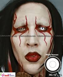manson white crazy contacts pair hc12 19 99 halloween
