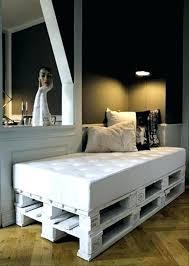 canapé lit en palette canape lit palette petit lit 2 places lit en palette simple blanc