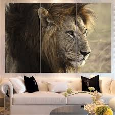 no frame animal oil painting lion king posters wall art and prints