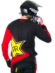motocross helmet rockstar fly racing red black rockstar 2017 kinetic mx jersey fly racing