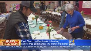 pembroke church hosts free thanksgiving dinner for community