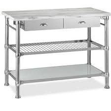 stainless steel topped kitchen islands threshold stainless steel top kitchen island in gray