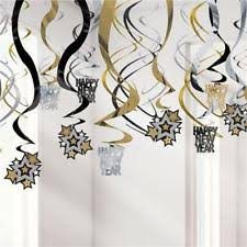 new year decoration new year s foil party hanging decorations ebay