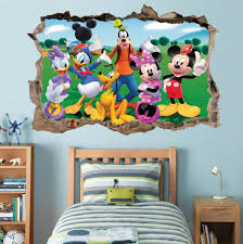 mickey clubhouse smashed wall decal graphic wall sticker art mural mickey clubhouse smashed wall decal graphic wall sticker art mural disney h795