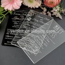 acrylic wedding invitations china supplier custom acrylic wedding invitations buy