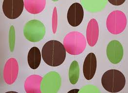 Pink And Green Nursery Decor Pink Lime Green And Brown Garland Nursery Decor S