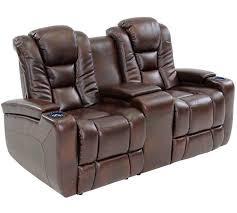 octane mega multi function reclining loveseat in brown bonded leather
