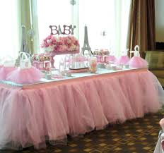 tutu baby shower theme tutu table skirt custom made wedding birthday baby shower