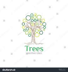 creative tree concept logo design template stock vector 613606421